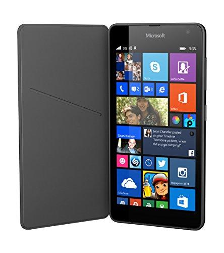 Microsoft Lumia Book Case Cover Flip Hülle für Microsoft Lumia 535 - Dunkelgrau