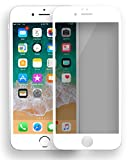 MyGadget Blickschutz Folie für Apple iPhone 6+ / 6s Plus - Panzerglas Anti Spy 9H Glasfolie Full Screen - Harte Privacy Protector Schutzfolie in Weiß