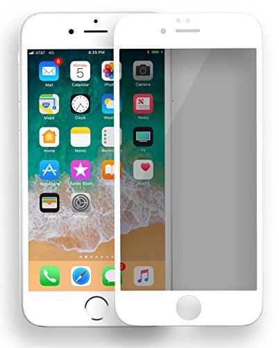MyGadget Protector Anti Spy para Apple iPhone 6/6s Plus Vidrio Templado Cristal 9H - Display Alta definición HD ultra fino 0.3m y 3D Touch - Blanco SU PRODUCTO - Esta fuerte cubierta es perfectamente diseñada para su Móvil, esta desarrollada para dar...