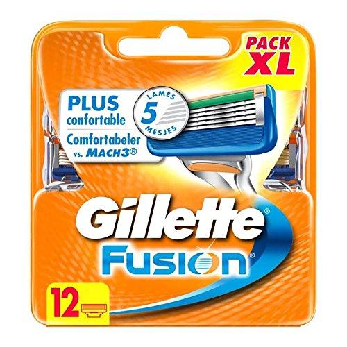 Gillette cuchillas Fusion x12precio unitario–envío rápido y entrecruzado