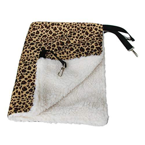 VIGE Warm Hänge Katze Bett Matte Soft Cat Hängematte Winter Hängematte Pet Kätzchen Käfig Bettdecke Kissen Luft Bett Haustier Produkte - gelb S -