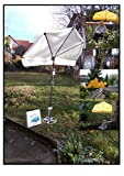 Protezione da Sole Holly - Girevole a 360 ° - Giallo Elevata Protezione UV - Fissaggio - Ombrello - Spiedo per Prato - Produzione Baden WÜRTTEMBERG - IT Ombrello a ventaglio Video -