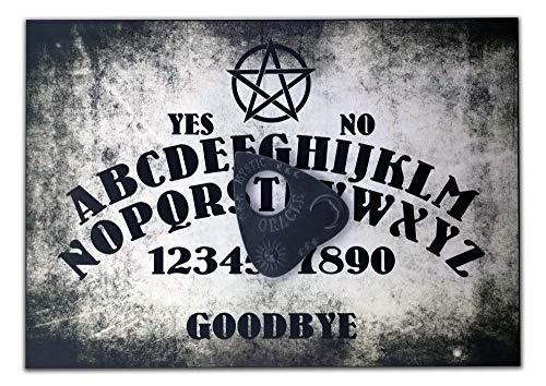 Handgefertigt aus Holz, A4, mit Pentagramm, Ouija Board, Set mit Allsehendes Auge Planchette, Ouija-Brett Pagan/Wicca-Design (Ouija-brett)