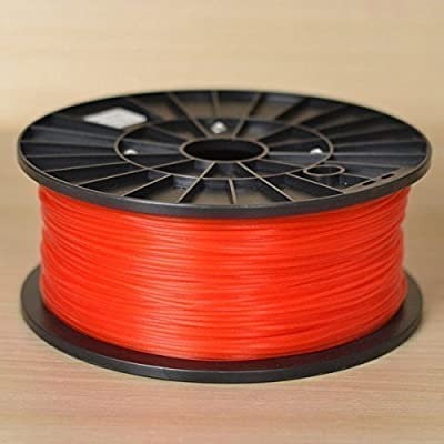 1KG spool of Technologyoutlet RED 3.0mm PLA filament premium quality for 3D printers from technologyoutlet