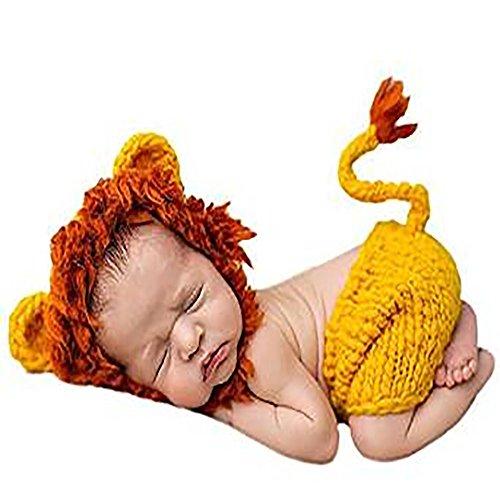 Solaxi Baby-Fotografie Kleidung Baumwolle gestrickte Baby Tier geformt klein (Junge Kostüm Aus Kleiner Up)