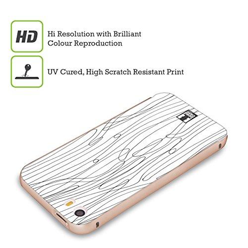 Head Case Designs Pois Griffonnage Blanc Et Noir Or Étui Coque Aluminium Bumper Slider pour Apple iPhone 5 / 5s / SE Algues