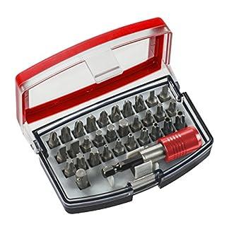 KWB 118490 Bit-box con puntas de 32 piezas, acero al cromo-vanadio