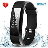 Smart Fitness Band, HolyHigh Activity Tracker Fitness Watches With Heart Rate Monitor Waterproof Black Dial Unisex...