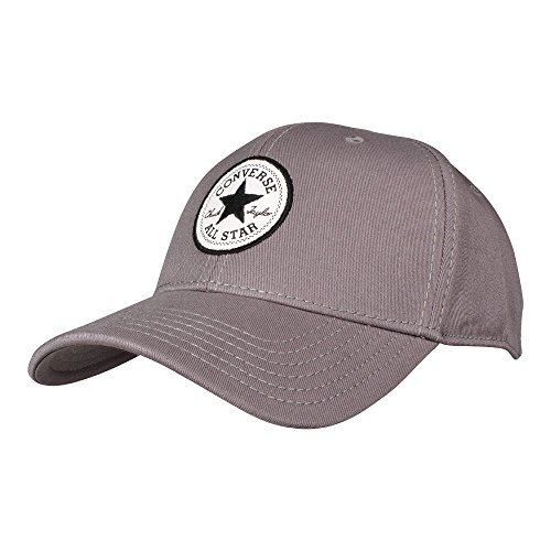 Converse Unisex Cappy Patch Flex Cap Charcoal Grey (grau) (Patch Hat Converse)