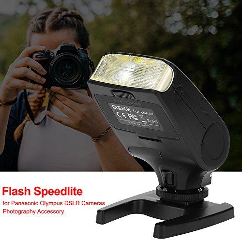 Meike Speedlite MK320 TTL LCD-Display Blitz mit Akku-Ladegerät für Sony MI Hot Shoe Mount Kamera + Lithium-Akku + Diffusor + Akku Ladegerät (Lcd-flash Panasonic)