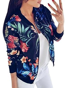 Chaqueta fresca Hiroo Mujer Blusa con estampado floral Camiseta de manga larga Suéteres Suaves Classic Quilted...