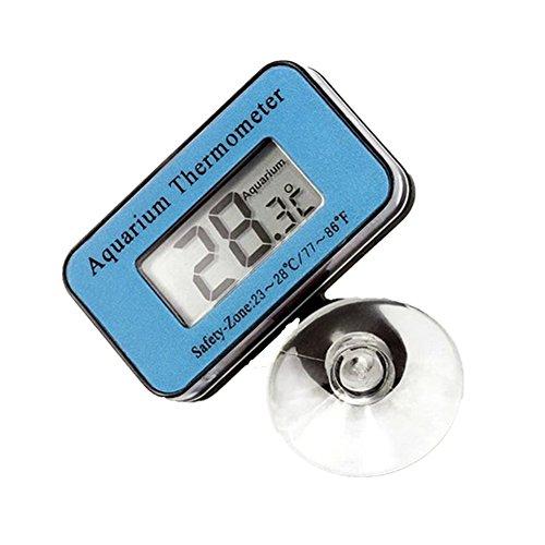 Toruiwa 1X Aquarium Wasserdicht Thermometer Unterwasserthermometer für Fish Tank Blau