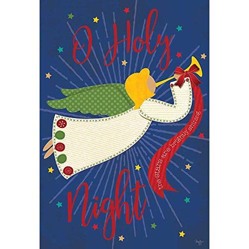 Magnolia Garden Angel O Holy Night Stars Himmelblau 18 x 13 Polyester Weihnachten Outdoor Flagge
