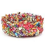 HEEPDD 1m Brillante Colorido de la Cinta del Ajuste de Piedra, DIY Apliques de Cristal Rhinestones de Cristal Shell Aplique de la Perla para el Bolso Headwear Vestido de Boda(#01)