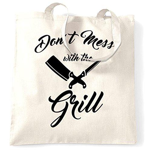 BBQ Tragetasche Verwirren Sie nicht mit dem Grill Slogan White One Size ()