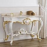 Simone Guarracino Konsolentisch mit Waschbecken Stil Luigi Filippo Decapé Elfenbein Eigenschaften Blattgold Marmor Farbe Creme
