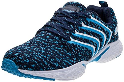 PORTANT Outdoor Sport Running Schuhe Leicht Schnürer Wander Sneakers Herren Freizeit Straßen Laufschuhe Mesh Atmungsaktiv Fitness Turnschuhe Blau Weiß 40 EU (41 Asien) (Sport-schuhe Für Sale)