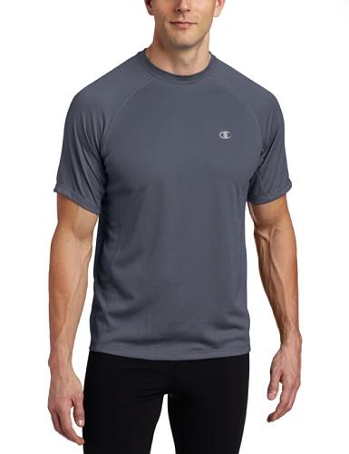 Double Dry Sport-shorts (Herren Double Dry Training T-Shirt, Schiefergrau, Large)
