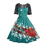 Weihnachts kleid ,LMMVP Frauen Weihnachtsmütze Bekleidung Weihnachtsfest Sexy Prinzessin Dress (XXL, Grün)