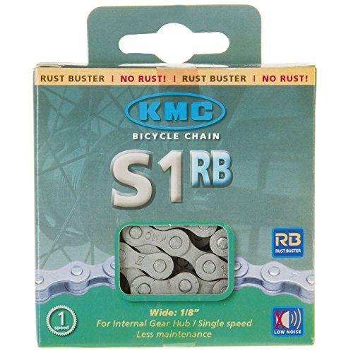 KMC Fahrrad Kette Kette KMC S1 RB AntiRust 112 Glieder 1/2 x 1/8, 8.6mm Karton Hüllenlos geräuscharm, 300685 - 2