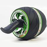 K-Y AB Roller Bauchtrainer Doppel-Bauch-Rolle/Sportrad und Knieschoner mit Soft-Grip-Griff für Core-Fitness-Übungen für die Bauchmuskulatur. Bauchtrainer (Farbe : Green)