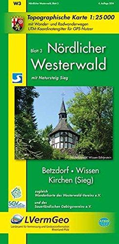 Topographische Karten Rheinland-Pfalz, Wandern im nördlichen Westerwald (Freizeitkarten Rheinland-Pfalz 1:15000 /1:25000)
