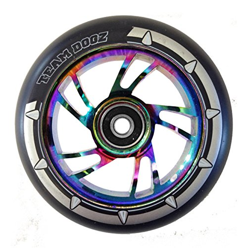 mm schwarz Swirl Legierung Core & Schwarz PU Kinder Stunt Scooter Einzel Ersatz Rad passend für MGP, Blunt, Grit, Slamm (Rainbow Core)... ()