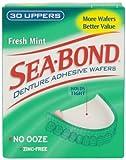 Sea-Bond Sea-Bond Denture Adhesive Wafers Uppers Fresh Mint (Pack of 2)