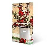 BANJADO Briefkastenanlage 2 fach   Stahl weiß mit 2 Briefkästen   Doppelbriefkasten 36x64x10cm   inklusive Namensschild   Wandmontage mit Motiv Berberitzen