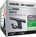 Rameder Attelage rotule démontable pour Skoda Fabia III + Faisceau 13 Broches...