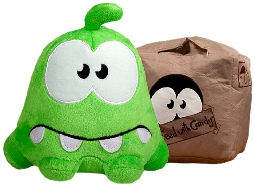 Om Nom Sad/Box Reversible Plush - Cut The Rope - 15cm 6""