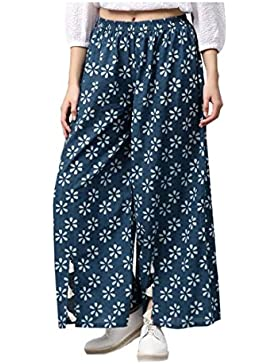 Indian Handicrfats Export Aks Regular Fit Women's Blue Trousers