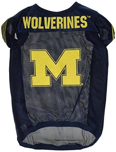 Sporty K9 NCAA Florida State Seminolen Fußball Hund Jersey, Michigan Wolverines, X-Large, Blau