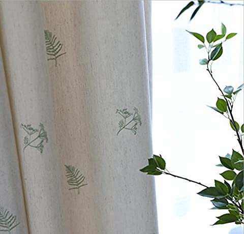 Stickerei Vorhang Leinen New Window Pastoral Sheer Vorhänge Wohnzimmer Schlafzimmer-1 Stück , 1pc(300*270 cm?