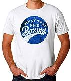 Muay Thai Kick Boxing Design Camiseta para Hombres Large