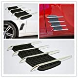 #8: Vetra Car Air Flow Side Vent Exterior Grille Decorative Duct (Set of 2) For Hyundai Creta