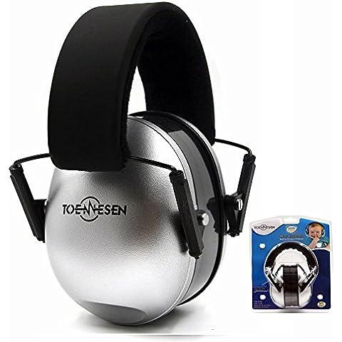 Protectores de oído orejeras de seguridad para 0-2Años Kids/bebé/niños auriculares ajustable audiencia Protector con suave almohadillas cancelación de ruido orejeras (Plata)