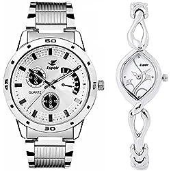 Espoir Analogue Multicolor Dial Men's & Women's Combo Watch ES109 2455