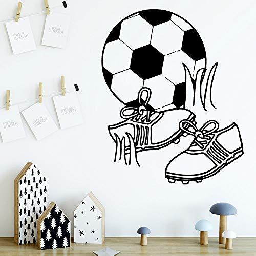 Yuanminglu bellissimi adesivi murali calcio adesivi murali decorazioni per la casa arte murale nero xl 58 cm x 71 cm