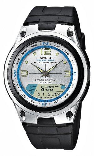 CASIO AW827AVES - Reloj de caballero de cuarzo, correa de resina color negro