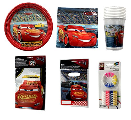 ar Cars 3 Party Geschirr 67 Teile Deko Set für 8 Personen ()
