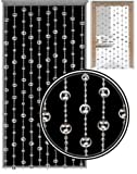 Glamorous Silver Disco Ball Beaded Hanging Door Curtain w/ Hanging Fixings New
