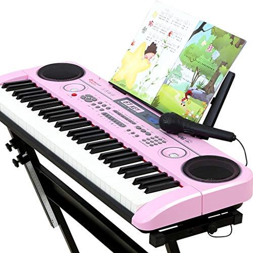 Tastiera tastiera per principianti ingresso bambini 3-12 anni giocattolo per pianoforte a 61 tasti multifunzione intelligente (colore : pink)