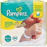 Pampers Windeln New Baby Gr.0 Micro 1-2,5 kg, 6er Pack (6 x 24 Stück)