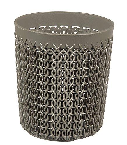 CURVER Runder Aufbewahrungskorb Strick, Kunststoff, Kunststoff, braun, 9,9 x 9,9 x 11,2 cm