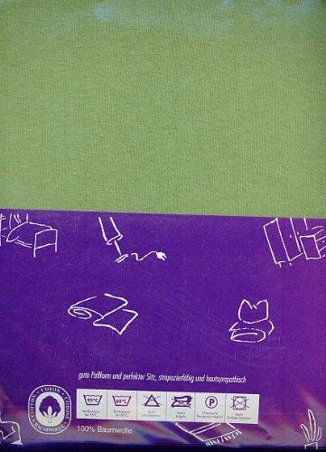 Preisvergleich Produktbild Spannbetttuch Jersey 140 / 160x200cm in moos 2 Stück