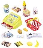 Playtastic Kaufmannsladen: 25-Teiliges Kaufladen-Set für Kinder, Kassensystem, LED-Licht & Sound (Spielzeug-Kinderkaufladenset)