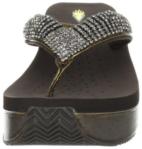 Volatile Fairydust Damen Leder Keilabsätze Sandale Bronze