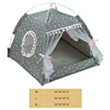 hengwei Cat Tent Cat House Bed Portable Folding Dog Tent Waterproof Pet Dogs Cats Small Animals Shelter(H03)