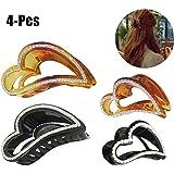 4PCS Women's Jaw Clip Creative Rhinestone Heart Shape Non-Slip Claw Clip Hair Clamp Hair Accessories For Women...
